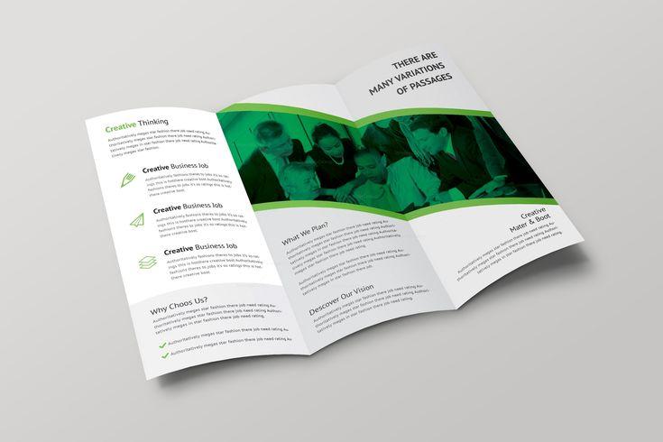 Athena Professional Tri-fold Brochure Design Template 001698