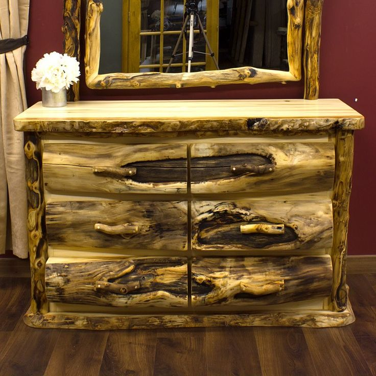 featuring hand peeled logs each log bed rustic dresser and log nightstand in our aspen mountain collection is hand crafted to ensure heirloom quality brilliant log wood bedroom
