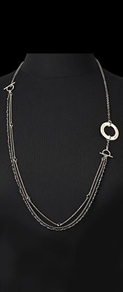 Citrus Silver  - Great custom stamped necklace can be worn three ways.