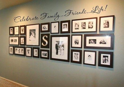 Домашняя фото-галерея. Расположение фотографий на стене