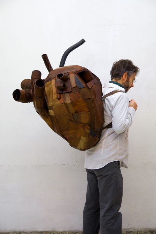 Andrei Roiter, Time Capsule, 2010, Mixed media, 80x100x65 cm: Wearable Sculpture, Time Capsule, Heart, Art Sculpture, Andrei Roiter, Anatomialio Para, Mixed Media, Wood Sculpture, Heavy Heart