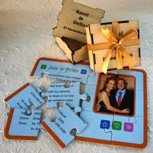 convites casamento criativos puzzle