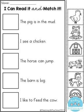 FREE Reading comprehension activities! Great for pre-k, kindergarten, first grade or ESL students.