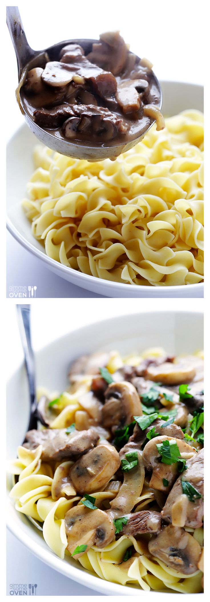 Easy Beef Stroganoff -- simple to make, yet so flavorful and delicious | gimmesomeoven.com