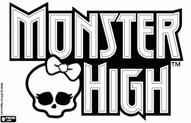 Coloriage Logo Monster High