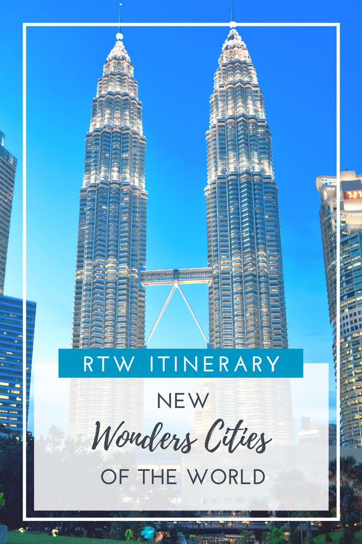 Visit the new wonder cities of the world with this easy around the world itinerary with your family. #rtw #travel #family