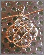 Celtic knot wirecharm - Beadjewelry.net - Jewelry Making and Beading with Chris Franchetti Michaels