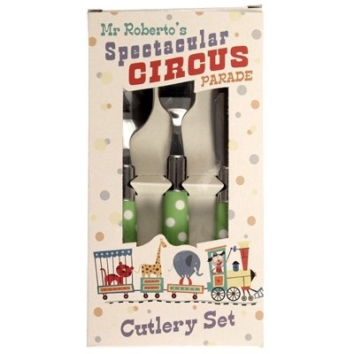 Kinderbestek Circus - Groen Polkadot