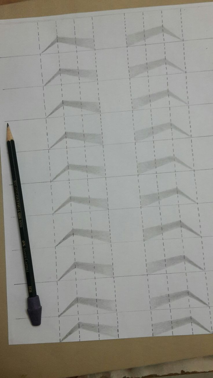 practice to draw eyebrow