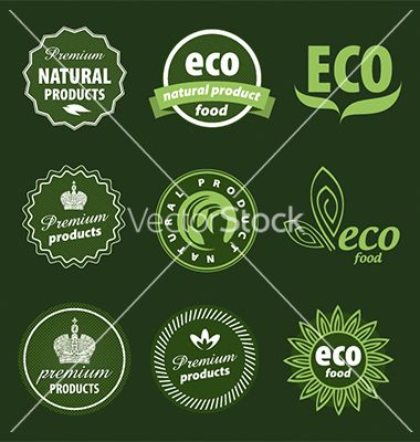 Eco logo vector 1268033 - by butenkow on VectorStock®