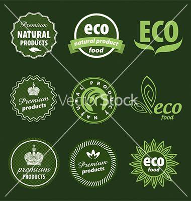 Eco logo vector 1268033 - by butenkow on VectorStock®
