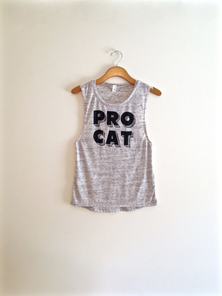 Black and white cat shirt, cool cat shirt, muscle tee, cat tank top, yoga clothes, pro cat, crazy cat lady, gift for cat lover, funny cat by TheFelineBoutique on Etsy https://www.etsy.com/listing/232607868/black-and-white-cat-shirt-cool-cat-shirt