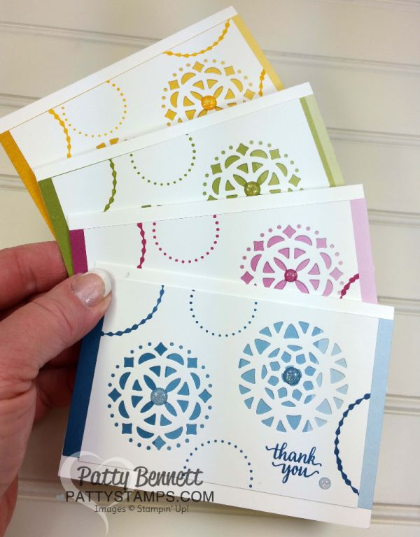 Stampin' UP! Card Ideas featuring Color Theory Suite products & Eastern Medallion framelits, by Patty Bennett