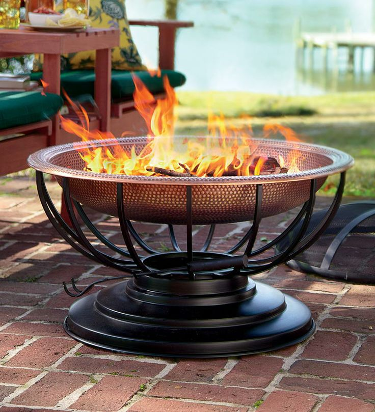 warm!Tables, Fire Pits, Hammer Copper, Solid Hammer, Gardens, Outdoor Fire Pit, Lids Convertible, Firepit, Copper Fire