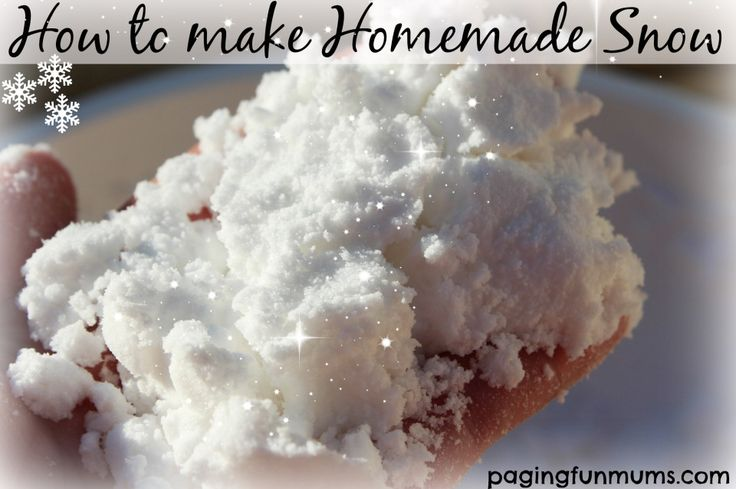 How to make Homemade Snow…with only TWO household ingredients!