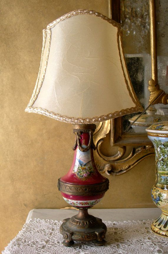 31 best table lamps images on pinterest vintage table lamps antique french paris gold bronze porcelain table lamp w parchment lampshade table lamps other metro oggetti veneziani keyboard keysfo Gallery