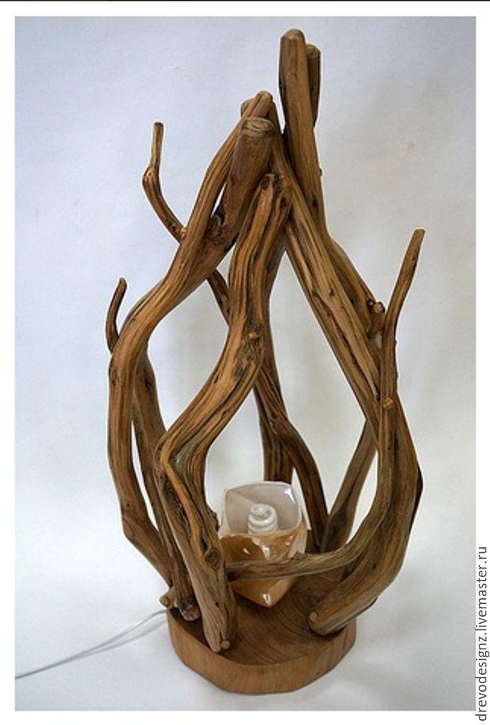 Купить светильник из можжевельника - коричневый, светильник из дерева, светильник ручной работы, светильник для спальни, можжевельник