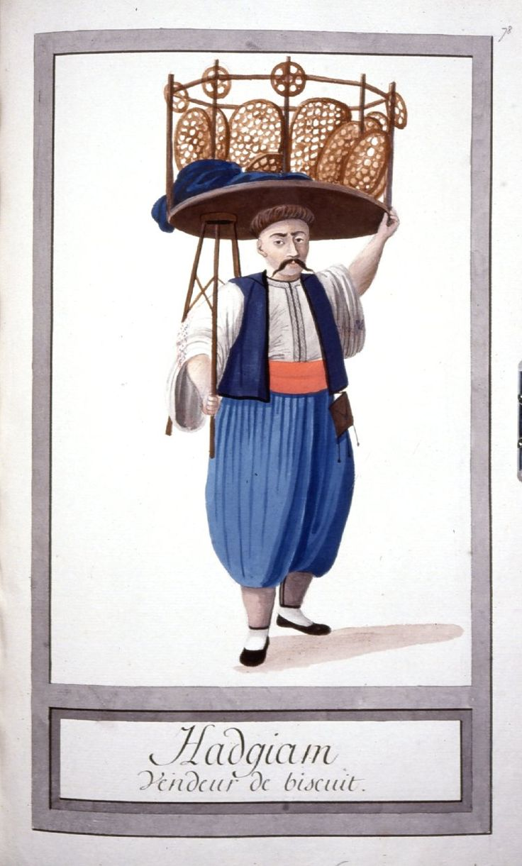 Acıbademci - Illustrations of Ottomans circa 1790 from Costumes Turcs  Source: British Museum