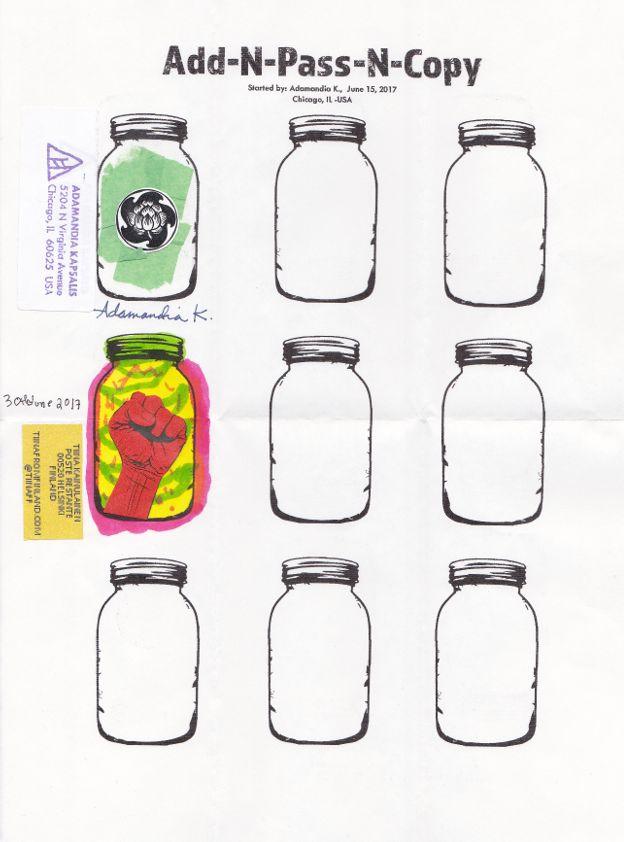 Adamandia Kapsalis Add and Pass and Envelope http://www.tiinafromfinland.com/mail-art/adamandia-kapsalis-add-and-pass-and-envelope/ #addandpass #mailart #envelope