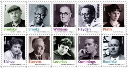 In 2012, the United States Postal Service will honor ten poets with their very own Forever Stamp: Elizabeth Bishop, Joseph Brodsky, Gwendolyn Brooks, E. E. Cummings, Robert Hayden, Denise Levertov, Sylvia Plath, Theodore Roethke, Wallace Stevens, and William Carlos Williams.    We're doubly excited about this because Joseph Brodsky's photograph was taken by the Unterberg Poetry Center's official photographer, Nancy Crampton! Read more about this Forever Stamp series on Beyon...