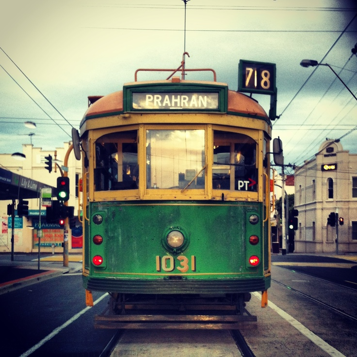 Melbourne tram (W7 class 1031) on route 78 in Chapel Street. The final development of the W series starting with the W class in 1923. Sound proofing, a superior seating layout, great braking abilities and a good controller makes this my favourite type of W class.