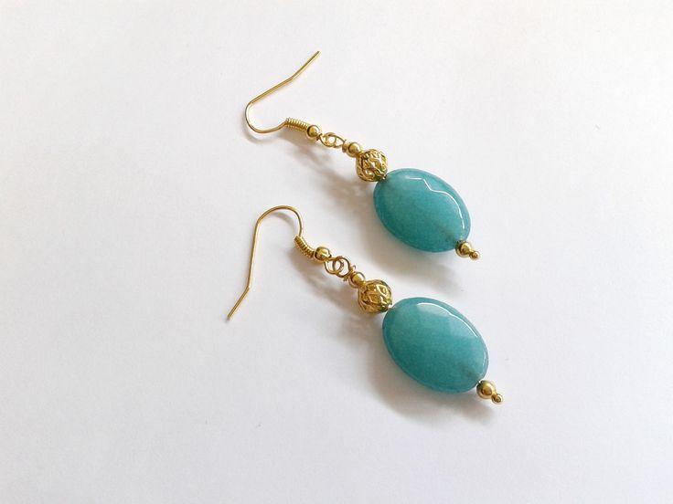 orecchini pietra dura agata verde ovale : Orecchini di tizianatar