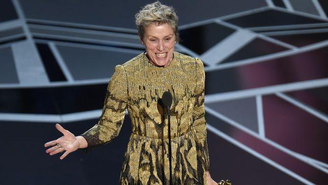 """La definición del """"inclusion rider"""" que ha reclamado Frances McDormand en los Oscar 2018"""
