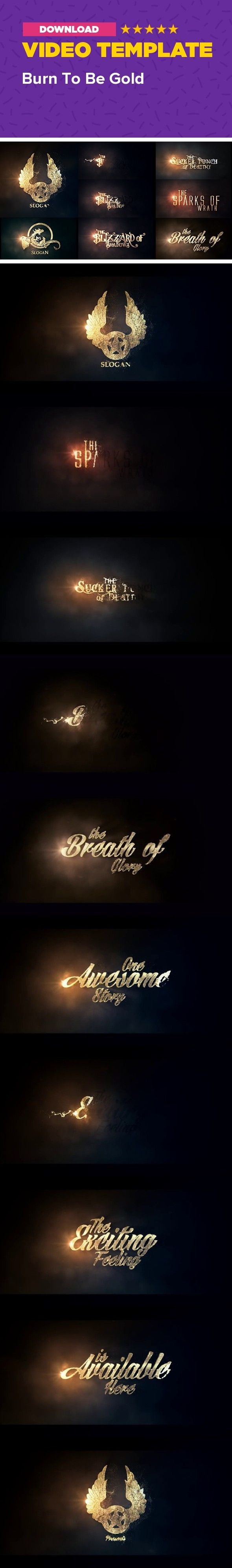 adventure, burn, cinematic, dust, epic, fantasy, game, gold, intro, logo, movie, mystical, particles, titles    Realistic gold dust particle by hitting opens your logo or name, which is covered with a beautiful golden texture. Project works with graphic or text, so it allows you to create logo (name) animation or even make a titles sequence. Template has six different style presets, this makes it perfect to present adventure of any kind from fantasy to action: a game, book, movie or…