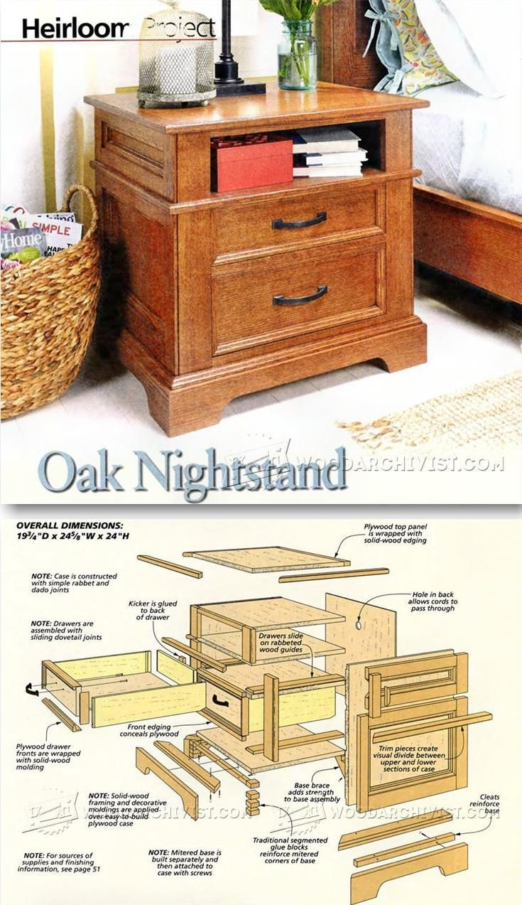25 best ideas about nightstand plans on pinterest diy - Woodworking plans bedroom furniture ...
