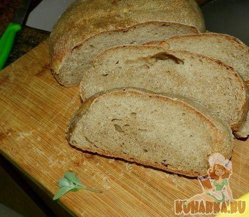 Рецепт: Pain Rustique. (Сельский хлеб, Хэмелмен).