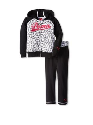 60% OFF Puma Girl's Hearts Hoodie Set (Black)