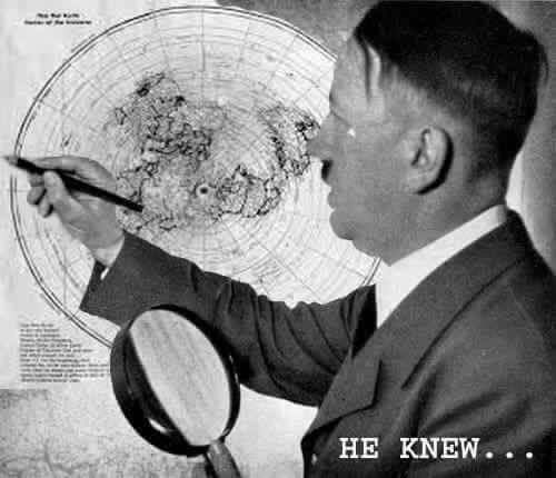Hitler used flat earth map?