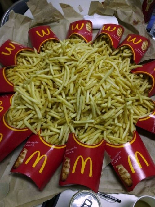 Let's be real here, I think I could swim in fries