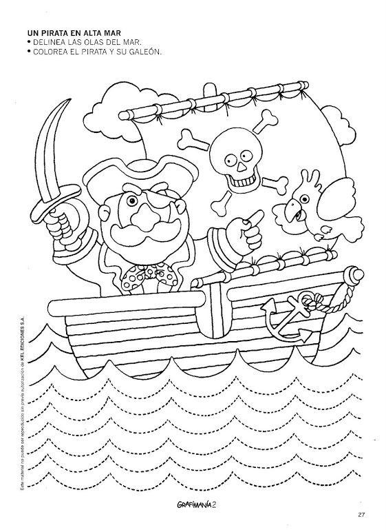 schrijfpatroon piraten, free printable
