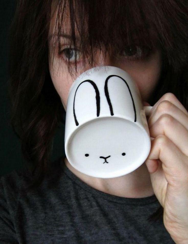 Bunny Rabbit DIY Mug :: Featured on House of Valentina
