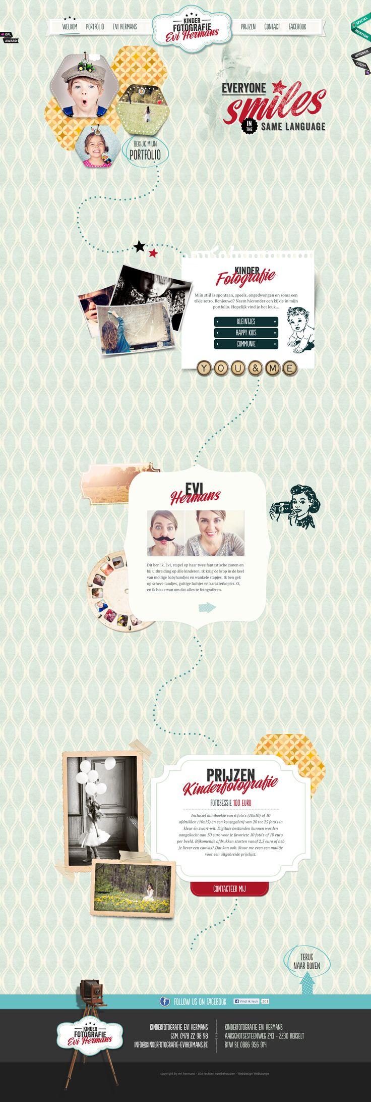 Kinderfotografie Evi Hermans | Kinderfotograaf in Herselt http://www.kinderfotografie-evihermans.be/ #parallax #scrolling #html5 #texture #vitage #webdesign