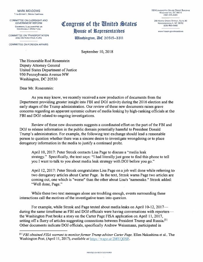9a6c50dab19 9.10.18 Letter From MRM to DAG Rosenstein | Poli