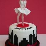 Marilyn Monroe cake  www.thelittlevillagecakery.co.uk