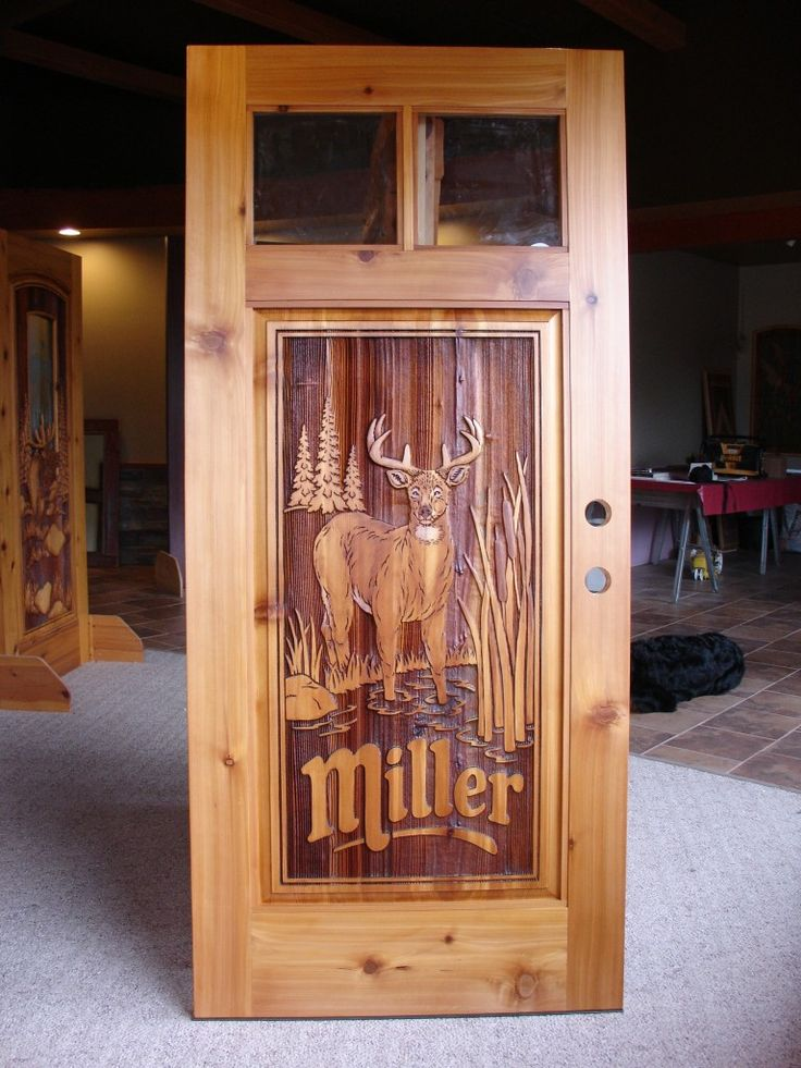 50 Miller Deer Door More Doors In 2019 Custom Wood