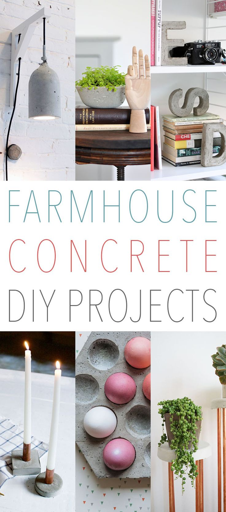 Farmhouse DIY Concrete Projects That Are Awesome