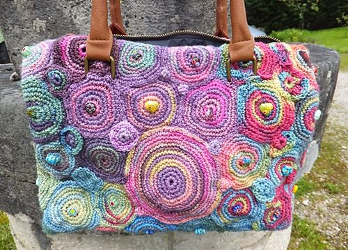 Crochet bag, but it would make a beautiful take along blanket for baby. Put a Smile On!
