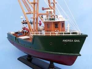 """Andrea Gail 16 """"Madera Modelo de Barco de Pesca Réplica de ..."""