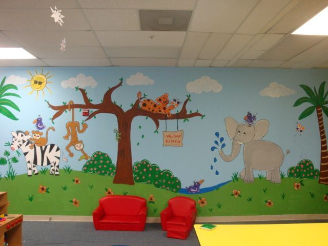 In The Daycare Jungle Mural Idea In Kids Daycare