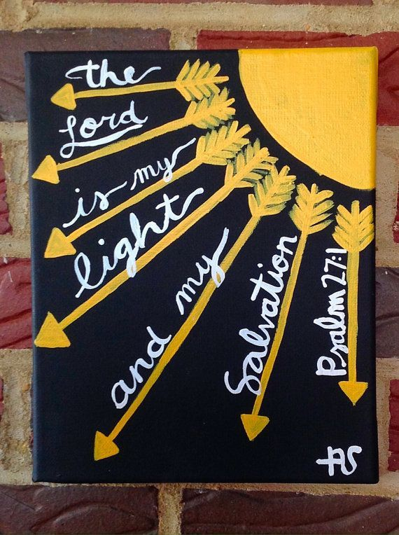 Bible Verse Psalm 27:1 by AshanArt on Etsy