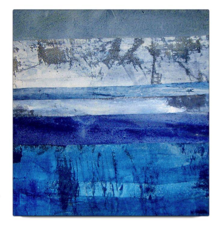 Blue (mixed media on canvas, 2010) | by Beatrice Zagato | abstract art