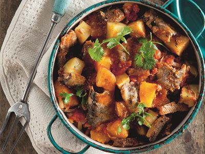 pilchard curry with butternut - yum!!!