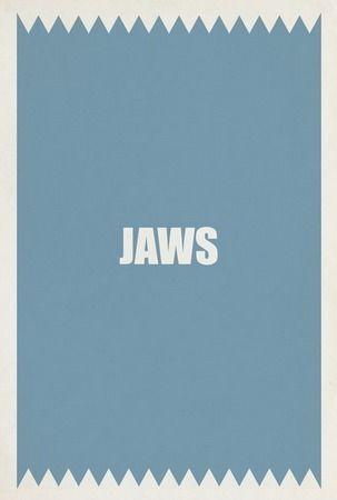 Minimal Posters, Minimalist Movie Posters, Jaws Minimalist, Alternative Posters, Prints Design, Graphics Design, Minimalist Post, Owens Jaws, Minimalist Movieposter