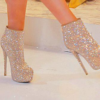 silver shoes high heels pumps glitter heels heels silver #prom heels #GlitterHeels