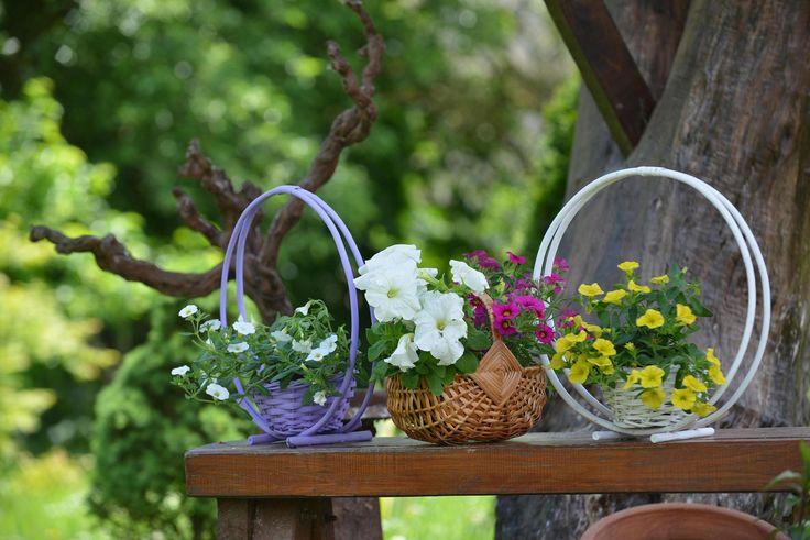 flowers wicker bascets handmade