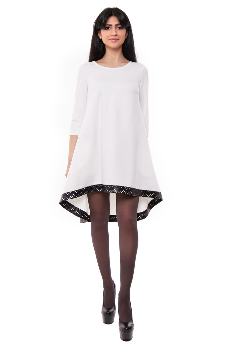 "Платье ""Виола"" с эко кожей - http://uarefashion.com/shop/clothes/plate-viola-s-eko-kozhej/"